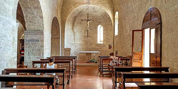 Церковьсвятого Марциала в историческом центре Губбио Умбрия