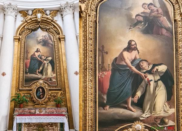 Экстаз Сан-Микеле-деи-Санти Амалия де Ангелис церковь Сан-Карло-алле-Куатро-Фонтане в Риме