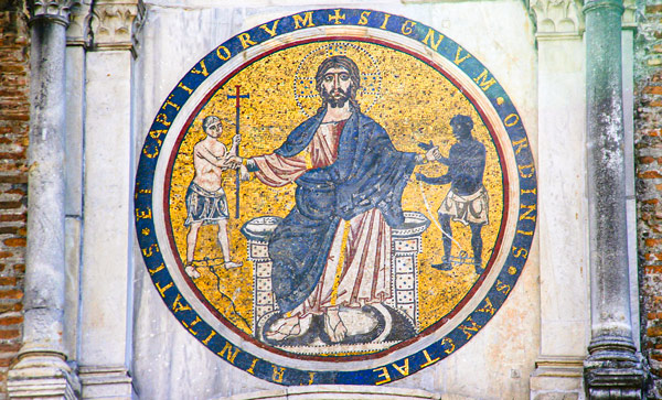 мозаика XIII век Лоренцо Космати Chiesa di San Tommaso in Formis в Риме