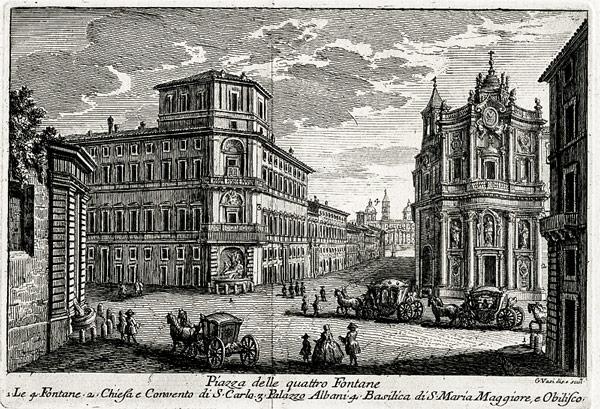 Giuseppe Vasi 1752 Piazza delle Quattro Fontane