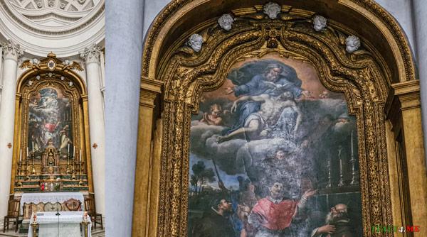 Сан-Карло Борромео с основателями Ордена Пьер Миньяр церковь Сан-Карло-алле-Куатро-Фонтане в Риме
