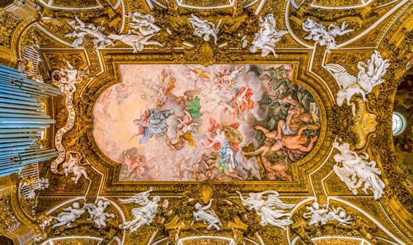 фреска 3D потолок церковь Санта-Мария-делла-Виттория в Риме