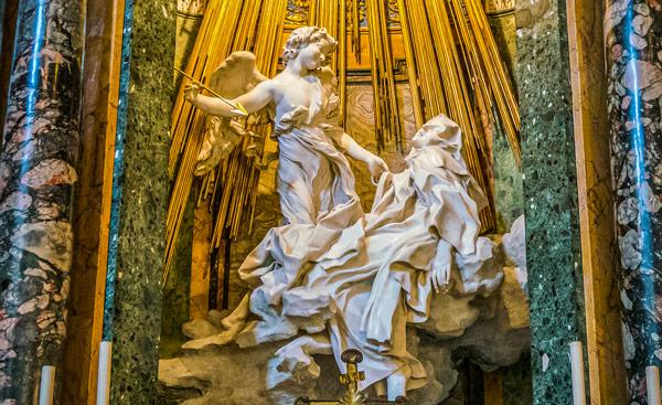 экстаз святой Терезы скульптура Бернини Санта-Мария-делла-Виттория в Риме