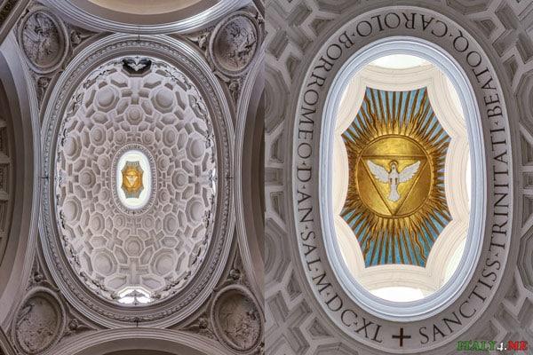 Белый голубь святой дух изображение купол церкви Сан-Карло-алле-Куатро-Фонтане в Риме