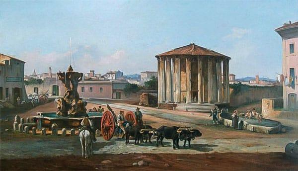 Как выглядел Бычий Форум в Риме и фонтан Тритонов